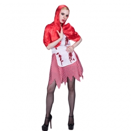 Halloween Costume Zombie Little Red Hat Dress