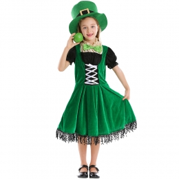 St. Patrick's Day Irish Leprechaun Dwarf Dress Kids Costume