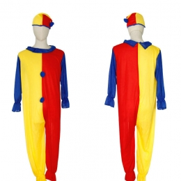 Kids Halloween Costumes Red and Yellow Clown