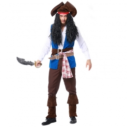 Pirate Captain Jack Mens Costume
