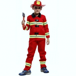 Kids Halloween Costumes Firemen Suit