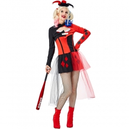 Halloween Harley Quinn Costumes Funny Clown Clothes