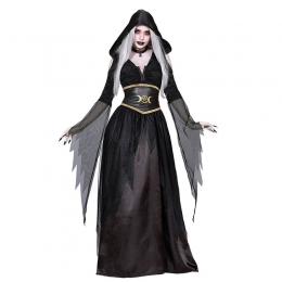 Witch Costumes Evil Long Dress