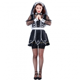 Day of the Dead Halloween Costumes Nun Clothes