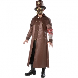Cursed Priest Plague Doctor Steampunk Men Costume