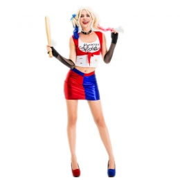 Women Halloween Harley Quinn Costumes Suicide Squad Style
