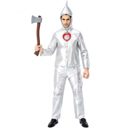 Family Halloween The Wizard Of Oz Costumes Tin Man Style