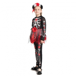 Mexico Day of the Dead Scary Girl Costume