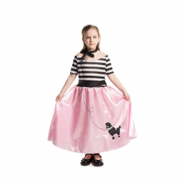 50s Retro Pink Poodle Girl Costume