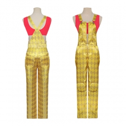 Women Halloween Costumes Harley Quinn Golden Suit