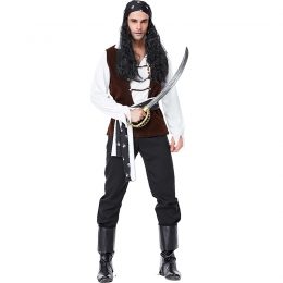 Skull Logo Pirate Men's Costume