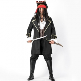 Men Halloween Pirate Costumes Same Style As Captain JACK