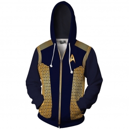 Movie Character Costumes Star Trek Gold 3D Style