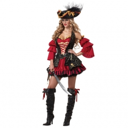 Women Halloween Costumes Caribbean Pirate Game Clothes