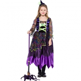 Cute Witch Magic Skirt Girl Costume