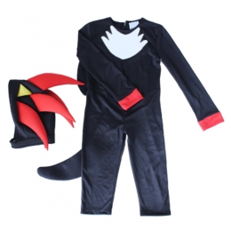 Anime Costumes for Kids Sonic Black Style