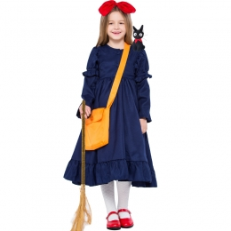 Girls Little Witch Kiki Parent-child Costume