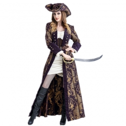 Women Halloween Pirates Of The Caribbean Costumes Jack Captain Clothes
