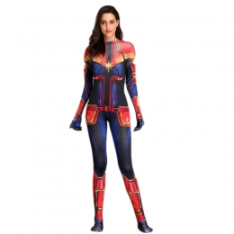 Women Halloween Costumes Captain Marvel Role Play