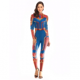 Women Halloween Costumes Captain Marvel Clothes
