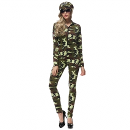 Adult Halloween Camouflage Military Halloween Female Instructor Clothes
