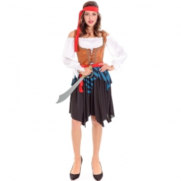 Women Halloween Costumes Pirates Captain Clothes