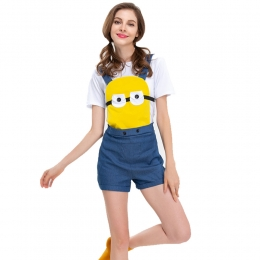 Women Halloween Costumes Despicable Me Little Yellow Clothes