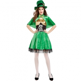 St. Patrick's Day Irish Goblin Dwarf Show Women Costume