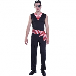 Men Halloween Pirate Costumes Cosplay Clothes