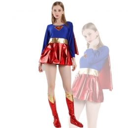 Women Halloween Costumes Superman American Cartoon Clothes