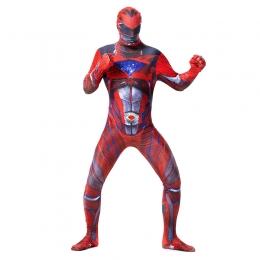 Superhero Costumes Dinosaur Team Red Jumpsuit