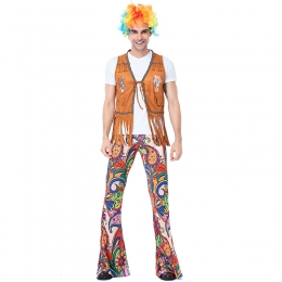 Men Funny Halloween Costumes European And American Retro Disco Hippie Style