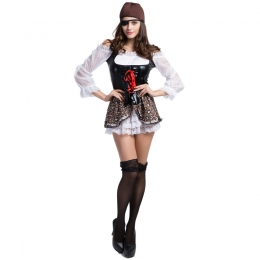 Halloween Costume Women One Eyed Dragon Pirate Clothes
