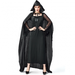 Women Scary Halloween Costumes Robe Mage