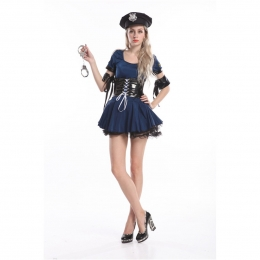 Sexy Halloween Costumes Policewoman Cos Suit