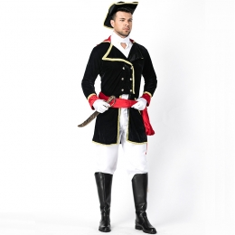 Men Halloween Military Costumes Louis The Thirteenth Parade Of Honor Guard Uniforms