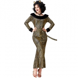 Sexy Mermaid Leopard Cat Dress Adult Costume