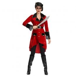 Women Halloween Caribbean Pirates Costumes Cosplay Game Uniform