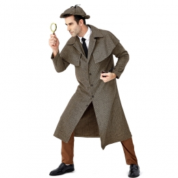 Men Funny Halloween Costumes Same Style As Sherlock Holmes British Style