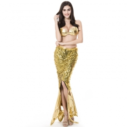 Women Halloween Costumes Mermaid Evening Dress Sequins Style