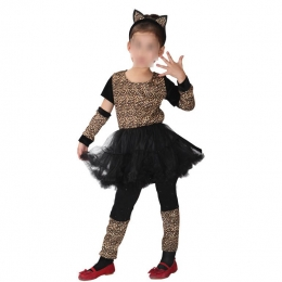 Cat Girl Costume Leopard Clothes