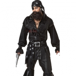 Men Halloween Costumes Pirate One Eyed Dragon Suit