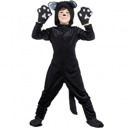 Animal Black Cat Boy Costume