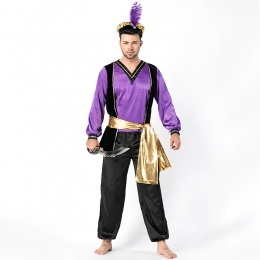 Men Funny Halloween Costumes Turkish Monarch Arab Clothes