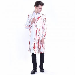 Men Halloween Costumes Doctor Bloody Clothes