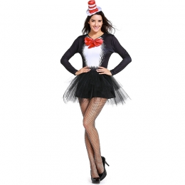 Women  Sexy Black Cat Girl Magician Costumes