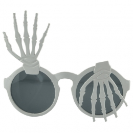Halloween Makeup White Ghost Claw Glasses