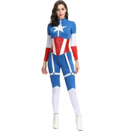 Women Halloween Captain America Costumes Heroes Style