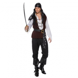 Men Halloween Costumes Pirates Of The Caribbean Skeleton Style