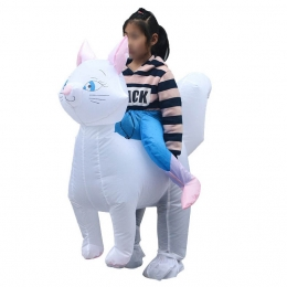 Inflatable Costumes White Riding Child Cat